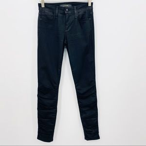 Joe's Jeans Ruched Black Skinny Jeans Size 25